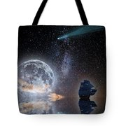 Caravel And Comet Tote Bag