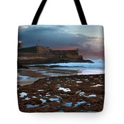 Fort In Carcavelos Beach Tote Bag