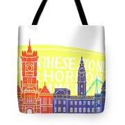 Cardiff Skyline Pop Tote Bag