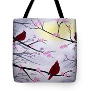 Cardinal Blossoms Tote Bag