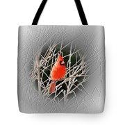 Cardinal Centered Tote Bag