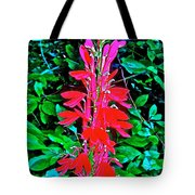 Cardinal Flower Near Schroon River In The Adirondacks-new York  Tote Bag