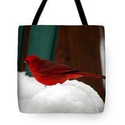 Cardinal In Snow II Tote Bag