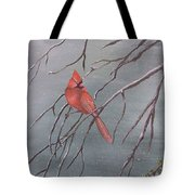 Cardinal In The Winter Tote Bag