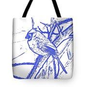 Cardinal Painted Tote Bag