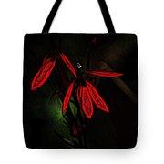 Cardinal  Plant Woodcut Tote Bag