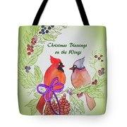 Cardinals Painted By Marcie Taylor  Tote Bag