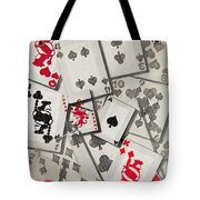 Cards Abstract Tote Bag