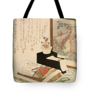 Cards Fukujuso Flowers And Screen Tote Bag