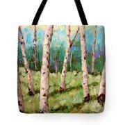 Carefree Birches Tote Bag