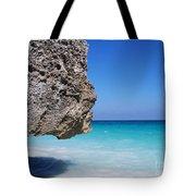 Caribbean Beach Rock Tulum Mexico Tote Bag