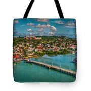Caribbean Color Palette Tote Bag