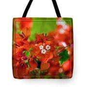Caribbean Floral Surprise Tote Bag