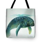 Caribbean Manatee Tote Bag