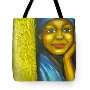 Caribbean Mystery Lady Tote Bag