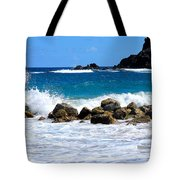 Caribbean Pounding Surf Tote Bag