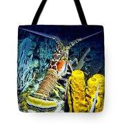 Caribbean Reef Lobster Tote Bag
