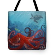 Caribbean Reef Octopus Tote Bag