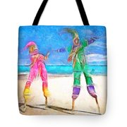 Caribbean Scenes - Moko Jumbie Tote Bag