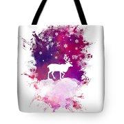 Caribou Winter Art Tote Bag