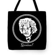 Caricature Of Albert Einstein Genius Tote Bag