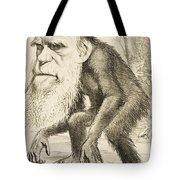 Caricature Of Charles Darwin Tote Bag