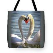 Caring Swans Tote Bag