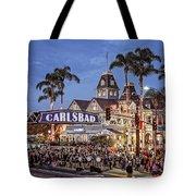 Carlsbad Village Sign Lighting Tote Bag