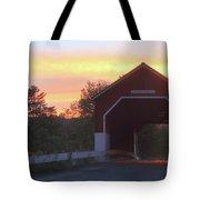 Carlton Covered Bridge Swanzey Nh Sunset Tote Bag