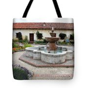 Carmel Mission Courtyard Tote Bag