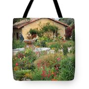 Carmel Mission Courtyard Garden Tote Bag