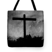 Carmel Mission Cross Tote Bag