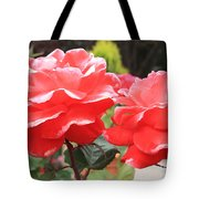 Carmel Mission Roses Tote Bag