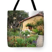Carmel Mission With Path Tote Bag