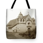 Carmel Mission  With The New Peaked Roof  1884 Tote Bag