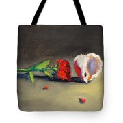 Carnation Flower And Sea Shell Tote Bag