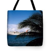 Carnival Docked At Grand Cayman Tote Bag