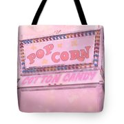 Carnival Festival Popcorn Cotton Candy Slide Fun Tote Bag