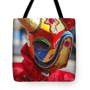 Carnival Red Duck Portrait Tote Bag