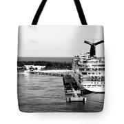 Carnival Sensation Cruise Ship - Grand Turk Island Tote Bag