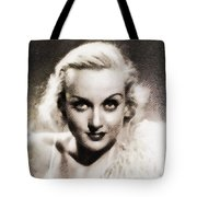Carole Lombard, Vintage Actress By John Springfield Tote Bag