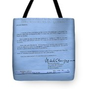 Carole Spandau Archived  By Musee Du Quebec  Painters Of Quebec 1972 Tote Bag