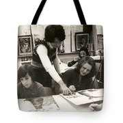 Carole Spandau Fine Art Teacher Darcy Mcgee Fine And Performing Art School Montreal Tote Bag