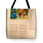 Carole Spandau Listed In Magazin'art Biennial Guide To Canadian Artists In Galleries 2006-2008 Edit Tote Bag