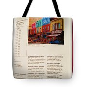 Carole Spandau Listed In Magazin'art Biennial Guide To Canadian Artists In Galleries 2009-2010 Edit Tote Bag
