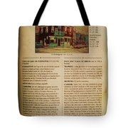 Carole Spandau Listed In The Guide Vallee Peintures Quebecois 1993-1994 Edition Tote Bag