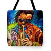 Carole Spandau Paints Miles Davis And Other Hot Jazz Portraits For You Tote Bag