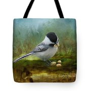 Carolina Chickadee Feeding Tote Bag
