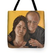 Caroline And Rob Tote Bag