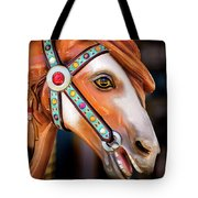 Carousal Horse Tote Bag